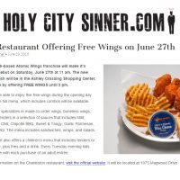 Atomic Wings Holy City Sinner