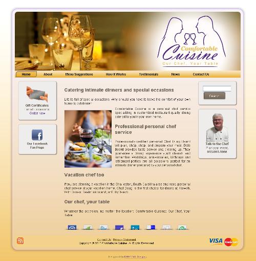 Comfortable Cuisine Personal Chef Service Screenshot