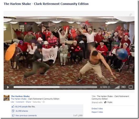 Clark Retirement Community Harlem Shake Video on Facebook