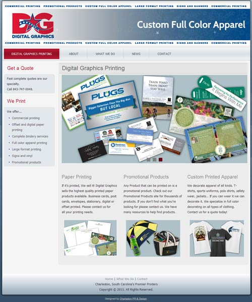 Home page for Digital Graphics Printing