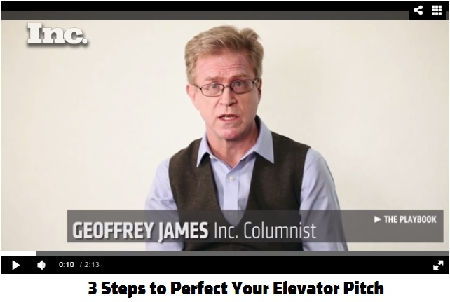 Click tho view Geoffrey James How to Master the Elevator Pitch