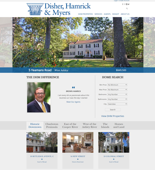 Disher, Hamrick & Myers Website Home Page