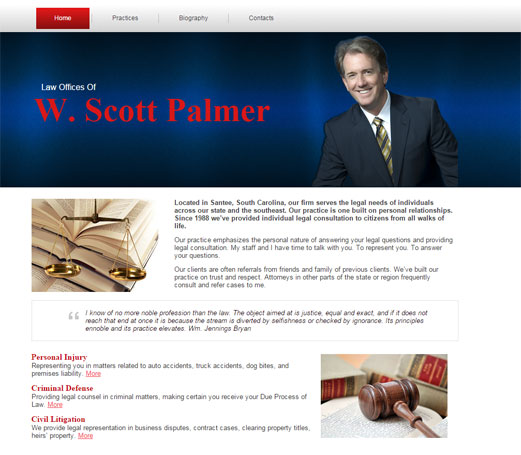 Attorney Palmer Website Preview