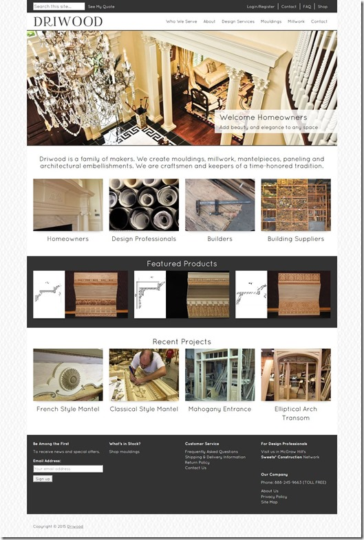Driwood Ornamental Wood Mouldings and Custom Millwork
