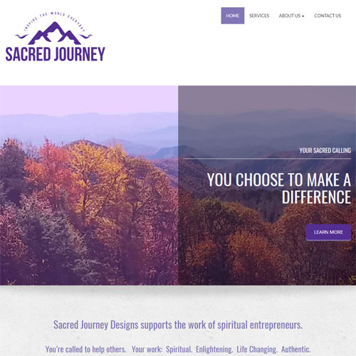 Sacred Journey Designs website