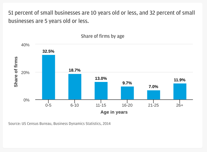 Age of small business chart