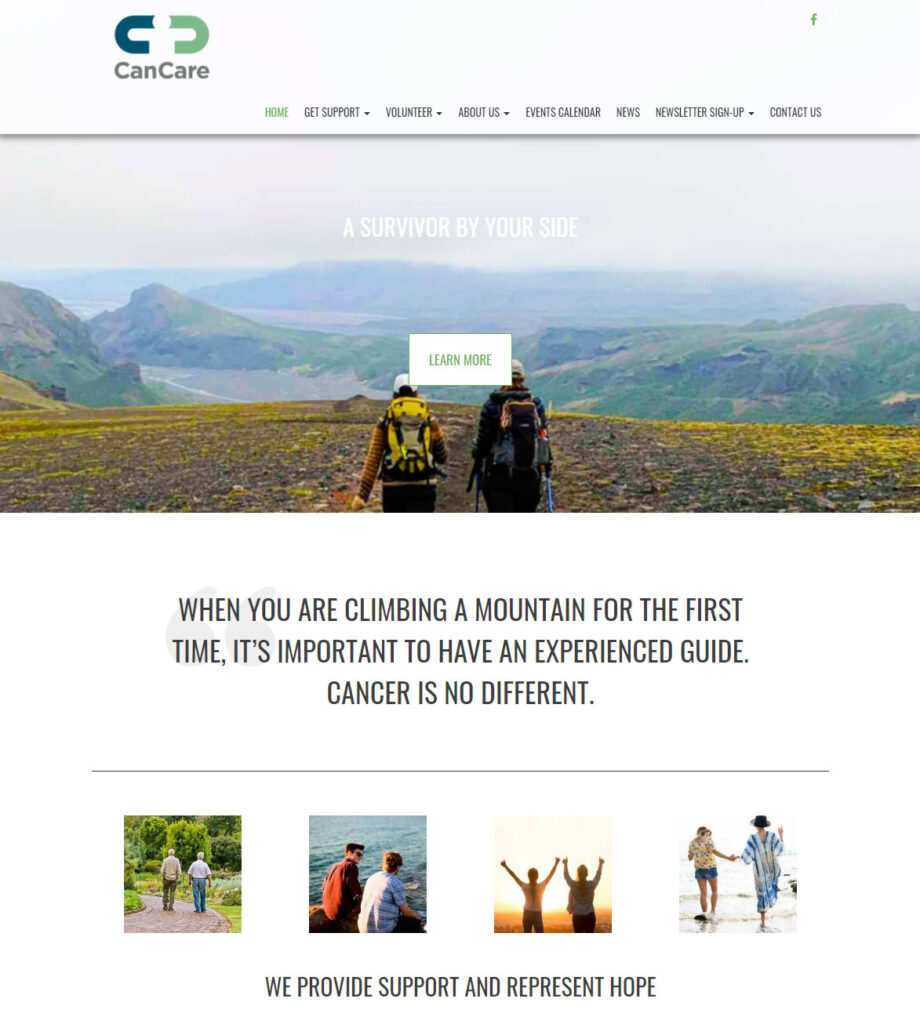 CanCare Charleston website home page