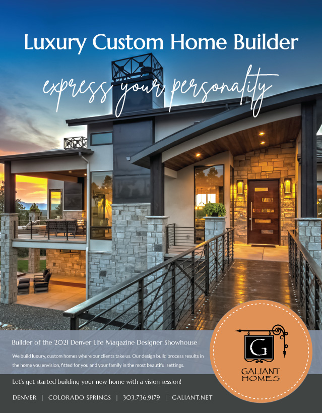 Galiant Homes full page color ad for Denver Life Magazine